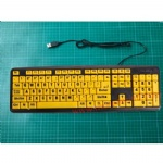 yellow large font keyboard for old people