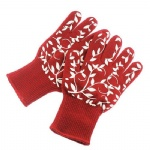 Cotton Liner Covering Aramid Fiber Heat Resistant Oven Gloves